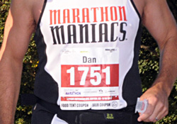 Close Up of Marathon Bib